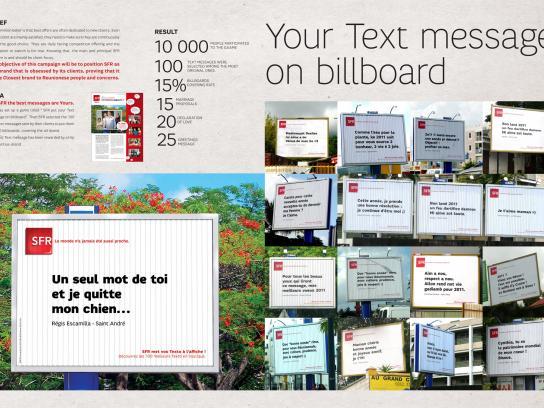 SFR Outdoor Ad -  Texto