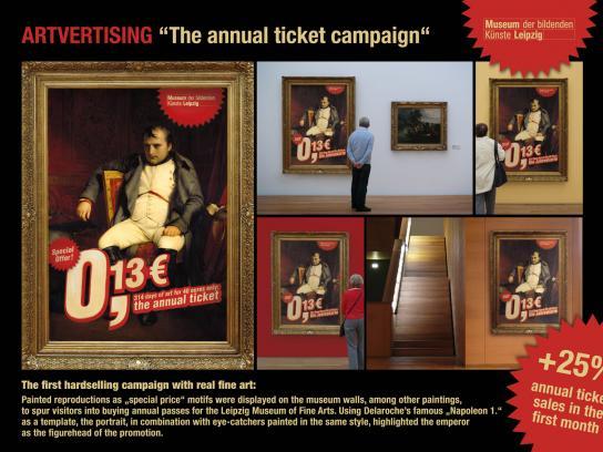 Museum of fine art Leipzig Ambient Ad -  Artvertising