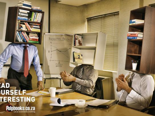 Pulp Books Print Ad -  Boardroom