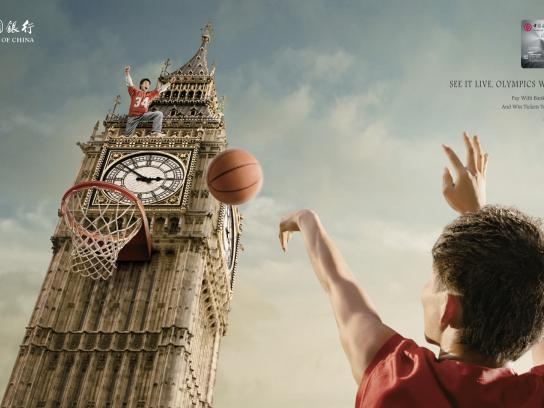 Bank of China Print Ad -  2012 London Olympics Campaign, Big Ben
