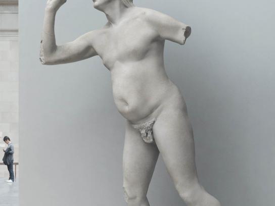 Eurostar Print Ad -  Statues, Darts