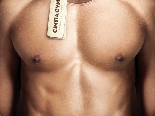 Cintia Gym Print Ad -  Body Shirt, Man