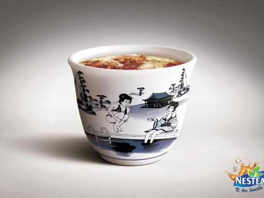 Nestea Print Ad -  Chinese cups, Bomb