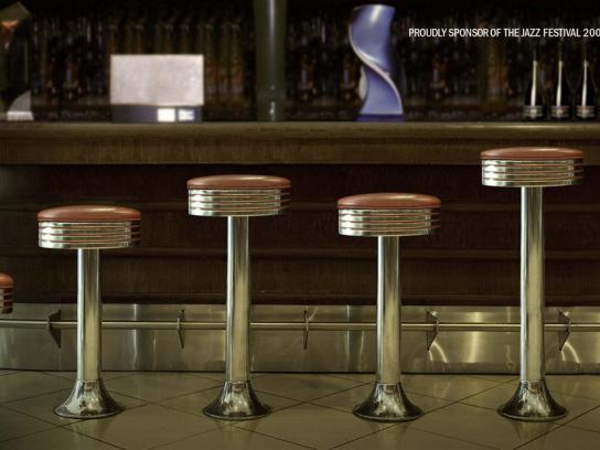 Boogies Diner Print Ad -  Jazz Festival