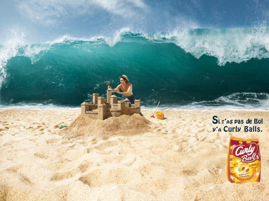 Curly Balls Print Ad -  Wave