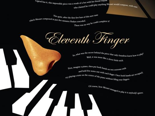 Books and Beyond Print Ad -  Eleventh finger