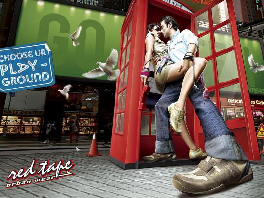 Red Tape Print Ad -  Phone Booth