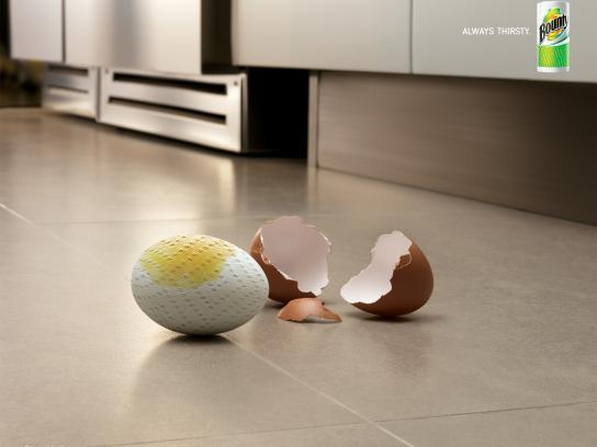 Bounty Print Ad -  Egg