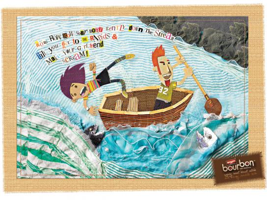 Bourbon Print Ad -  Boat