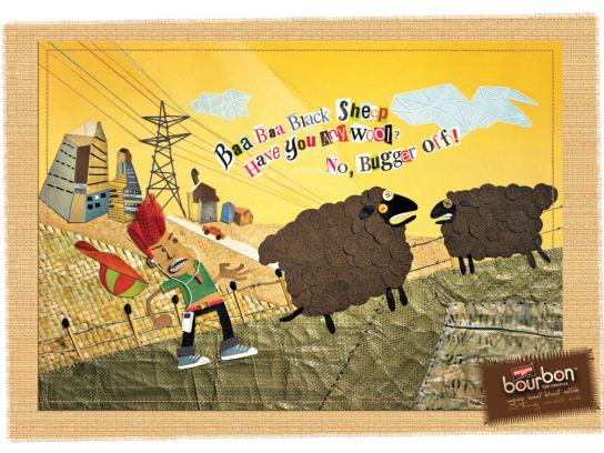 Bourbon Print Ad -  Sheep