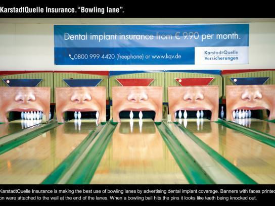 KarstadtQuelle Ambient Ad -  Bowling Lane