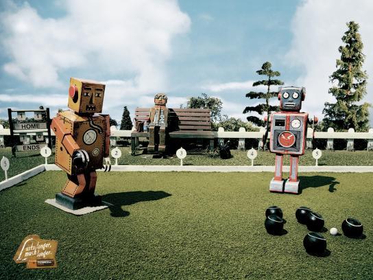 Duracell Print Ad -  Robot, bowls