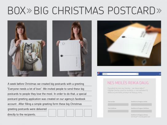 Box Agency Direct Ad -  Big postcards