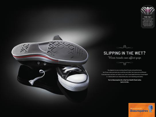 Beaurepaires Print Ad -  Tyres are your car's shoes, 2