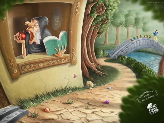 Corre Cutia Print Ad -  Nobody Resists a Good Story, Snow white