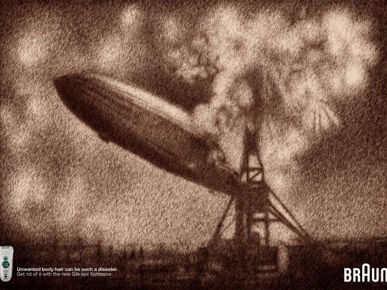 Braun Print Ad -  Hindenburg Crash