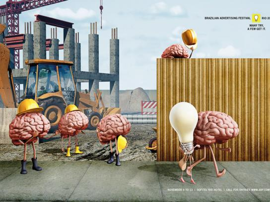 Brazilian Advertising Festival Print Ad -  Construction site