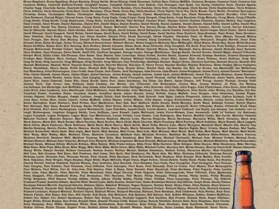 The Chosen One Print Ad -  Thanking the 999 beer tasters