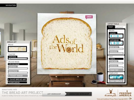 Grain Foods Foundation Digital Ad -  Bread Art Project