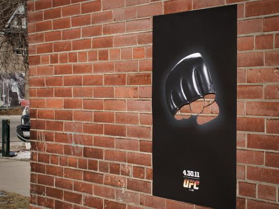 Ultimate Fighting Championship Outdoor Ad -  Brick Fist