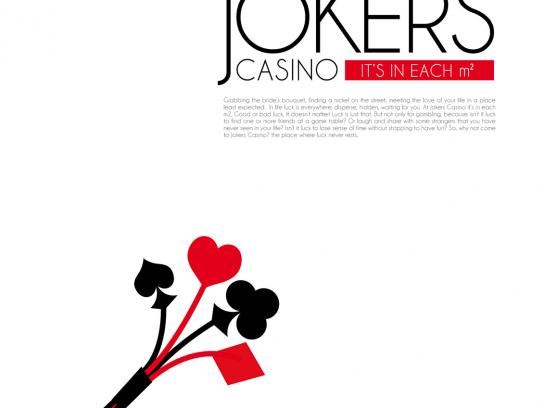Jokers Casino Print Ad -  Bride's Bouquet