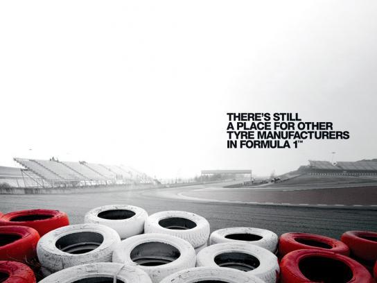 Bridgestone Print Ad -  Old tyres