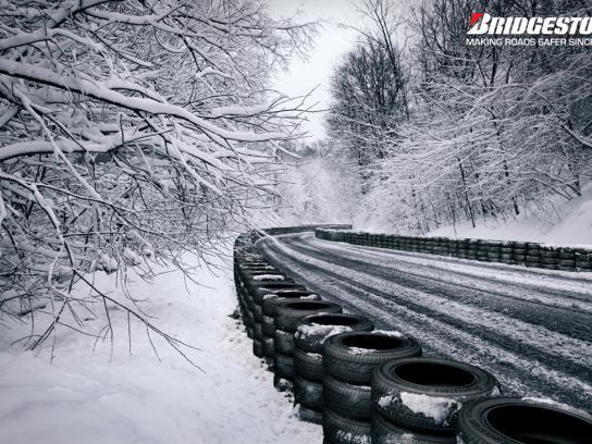 Bridgestone Print Ad -  Snowy Road