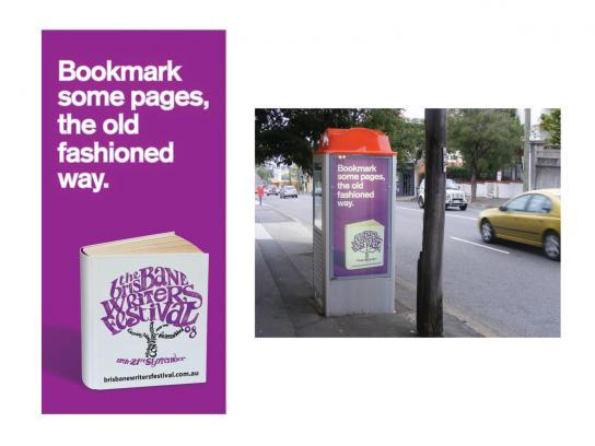 Brisbane Writers Festival Outdoor Ad -  Bookmark