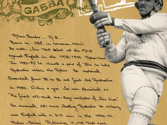 Brisbane Cricket Ground Print Ad -  Heroes of the Gabba, 1