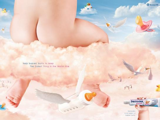 Dermodex Print Ad -  Expert in babies' butts, 1