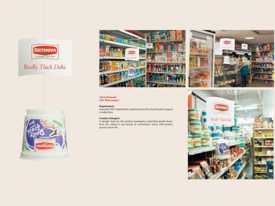 Britannia Ambient Ad -  Thick yoghurt