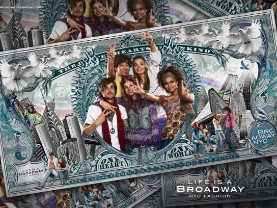 Broadway Fashion Print Ad -  Peace
