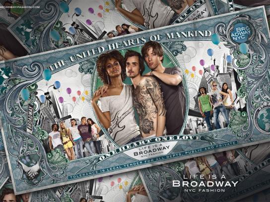 Broadway Fashion Print Ad -  Tolerance