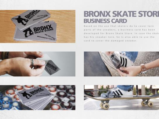 Bronx Skate Store Direct Ad -  Business card