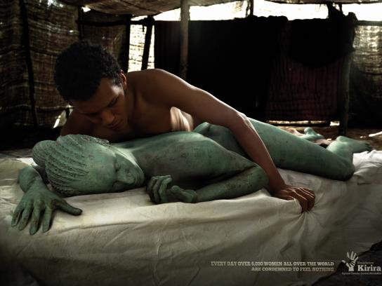 Kirira Foundation Print Ad -  Bronze Woman
