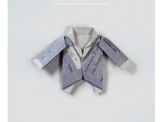 Brookline Community Foundation Print Ad -  Clothing