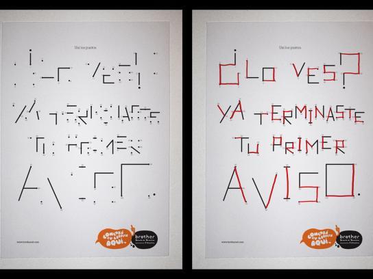 Brother Ad School Print Ad -  Dots
