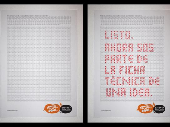 Brother Ad School Print Ad -  X