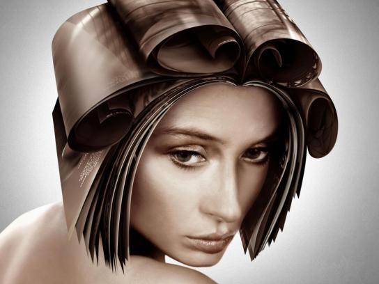 Estetica Magazine Print Ad -  Brunette