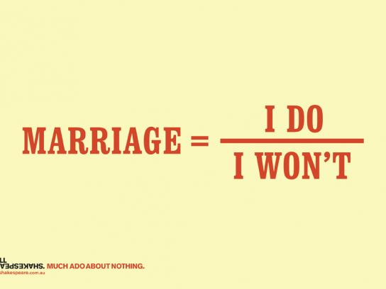 Bell Shakespeare Print Ad -  Marriage