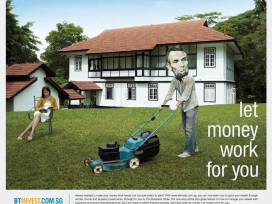 Btinvest.com.sg Print Ad -  Gardener