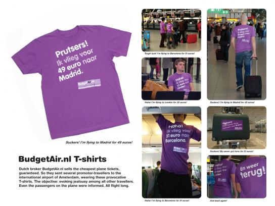 BudgetAir.nl Ambient Ad -  T-shirts