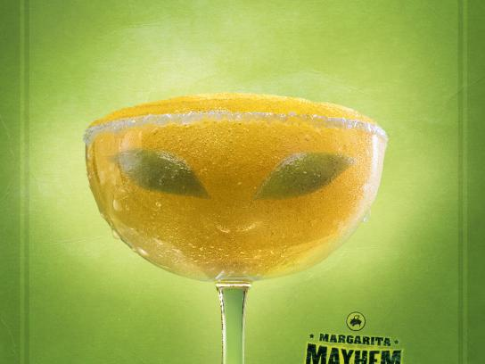 Buffalo Wild Wings Print Ad -  Alien