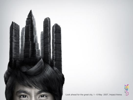 High-rise buildings hair