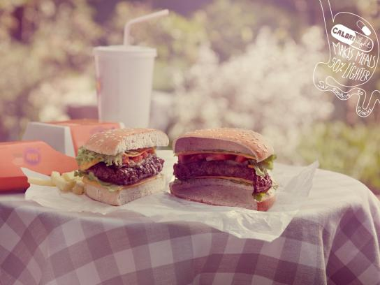 Calorilight Print Ad -  Burger