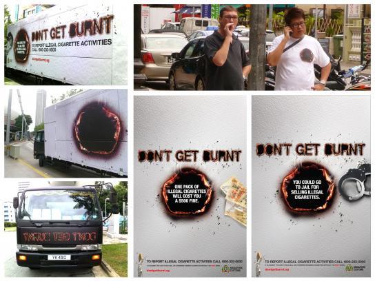 Singapore Customs Outdoor Ad -  Anti Contraband Cigarettes Campaign