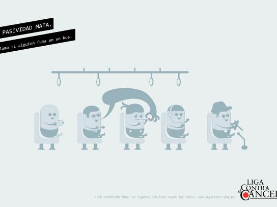 Liga Contra el Cancer Print Ad -  Bus