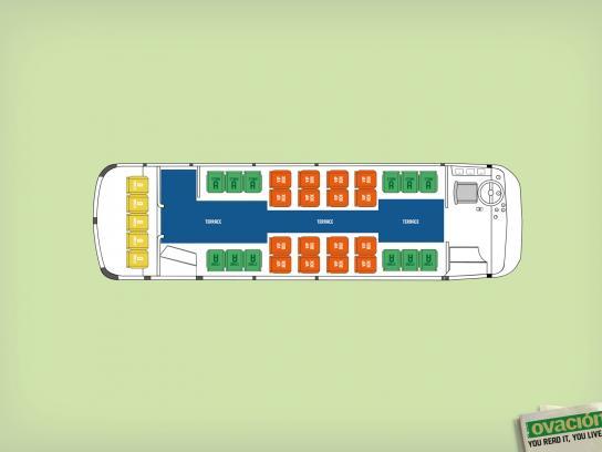 Ovacion Print Ad -  Stadiums/Bus