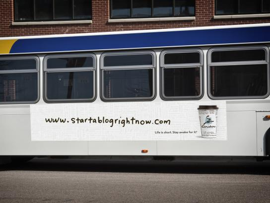 Caribou Coffee Outdoor Ad -  Bus blog