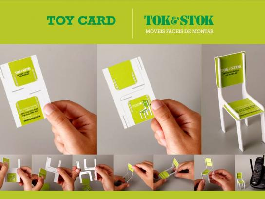 Tok&Stok Direct Ad -  Toy Chair Business Card